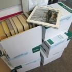 Ein Teil der Bücherspende für den öffentlichen Bücherschrank