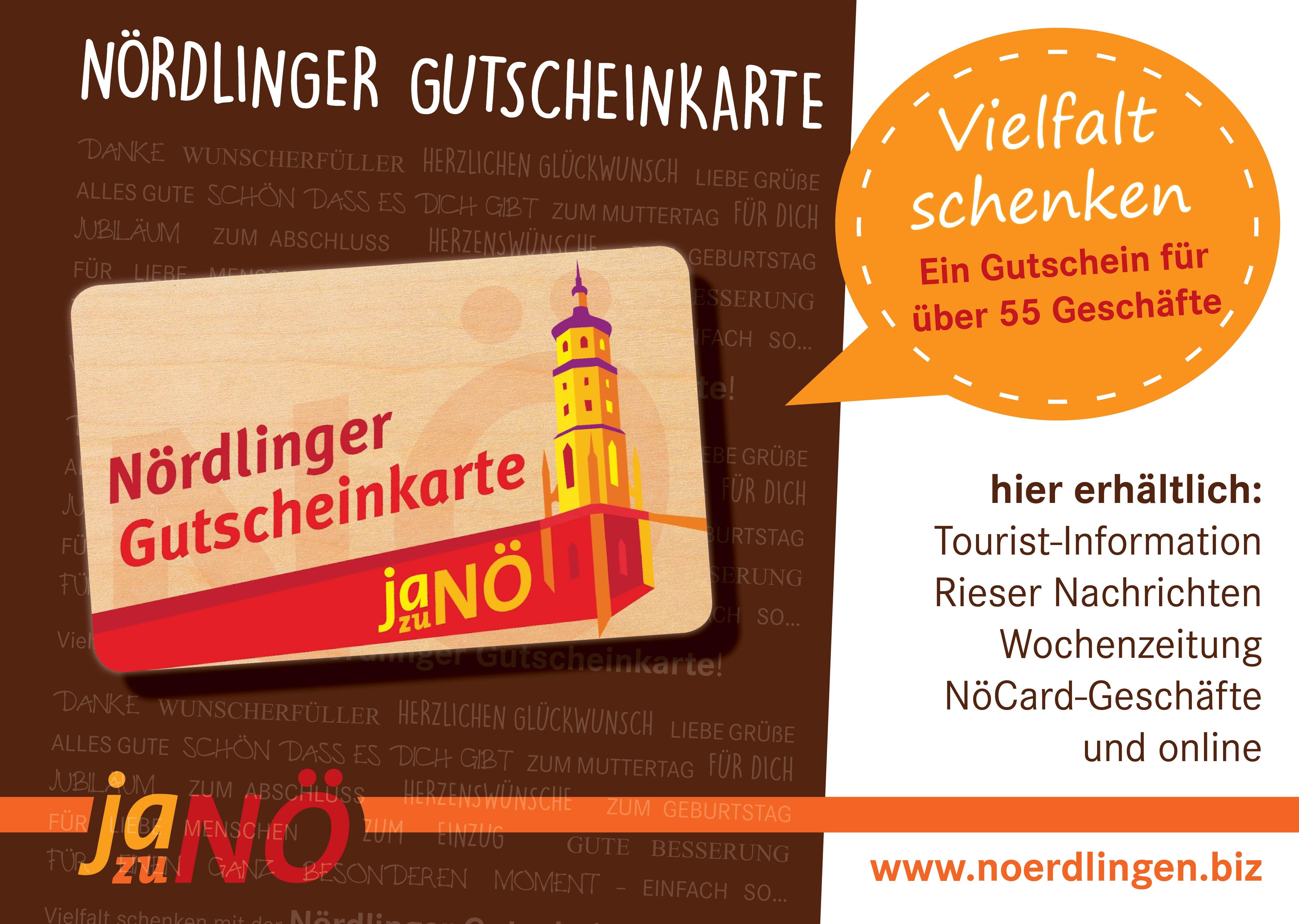 Gutscheinkarte.Nordlinger Gutscheinkarte Stadtmarketingverein Nordlingen