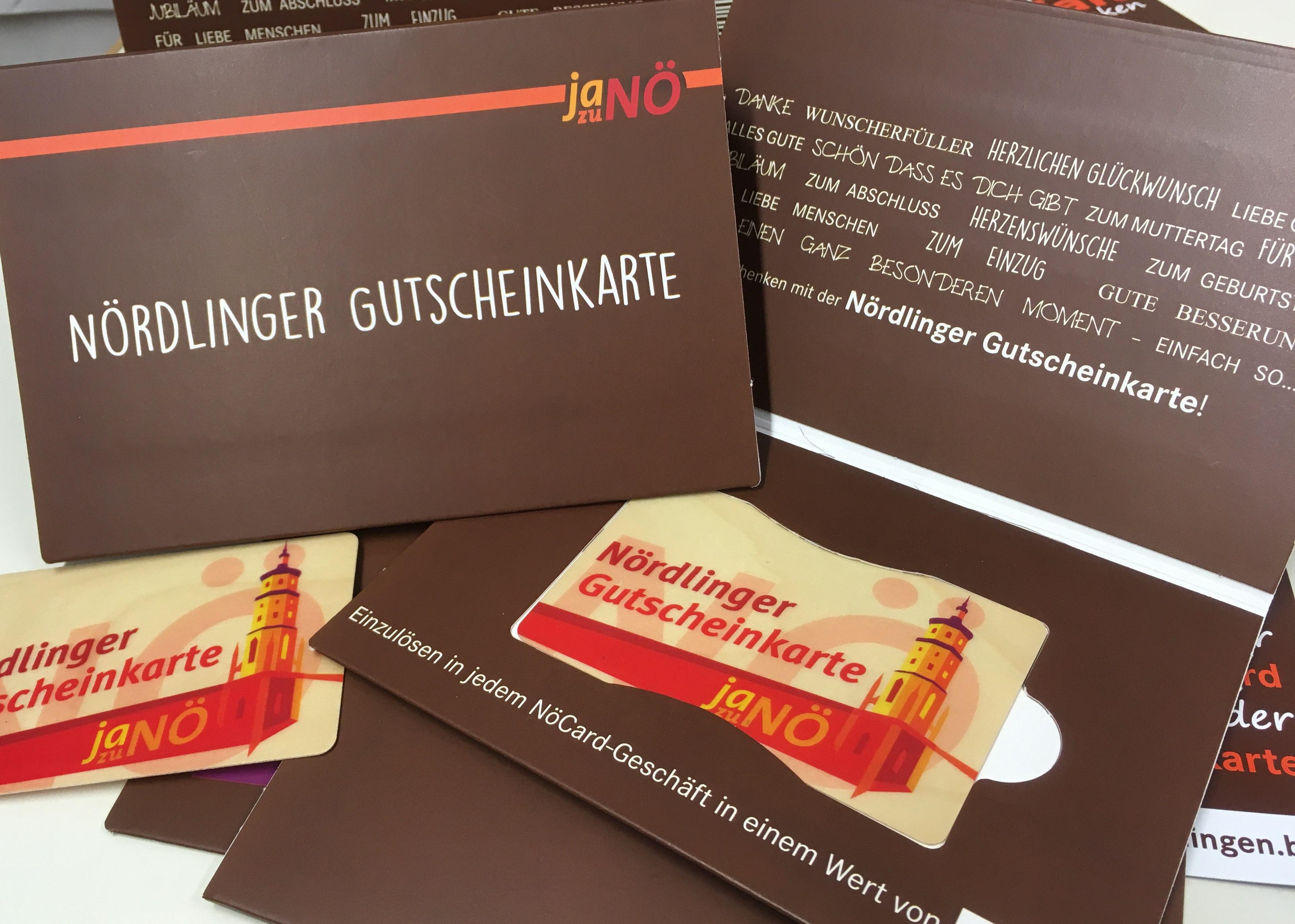 Nördlinger Gutscheinkarte   Stadtmarketingverein Nördlingen ist\'s wert