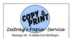 Logo COPY & PRINT Zeiträgs Papier-Service